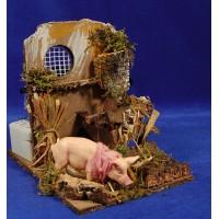 Cerdo movimiento 9 cm plastico