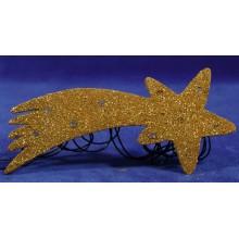 Estrella oro nacimiento iluminada 17 cm plástico