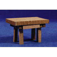 Mesa sola marrón 8,5x6x5,5 cm madera