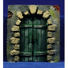 Puerta redonda 11 cm resina