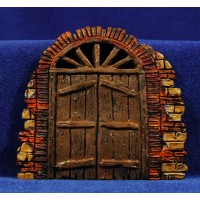 Puerta redonda 10 cm resina