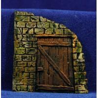 Puerta cuadrada 9 cm resina