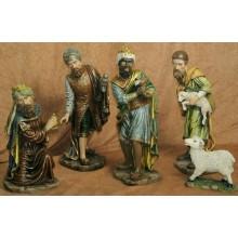 Reyes y pastor 52 cm resina