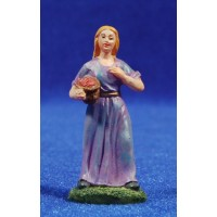 Shepherd with tomatoes basket 6 cm resin