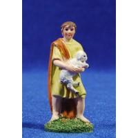 Pastor con corderito 6 cm resina