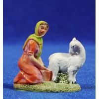Pastora con cabra 6 cm resina