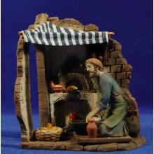 Panadero con horno 12 cm resina