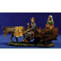 Pastor con carro y pastora 10 cm resina