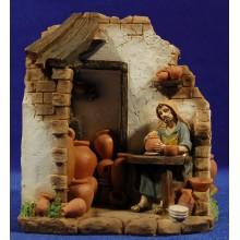 Pastor alfarero 10 cm resina