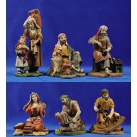 Grupo 6 pastores 20 cm resina