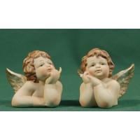Grupo de 2 bustos de ángel sobremesa 5 cm resina