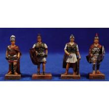 Grupo 4 soldados romanos 7 cm resina