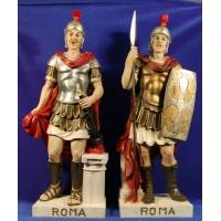 Pareja soldados romanos 55 cm resina