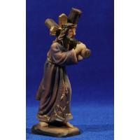 Jesús con la cruz Nazareno 11 cm resina