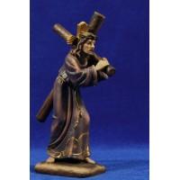 Jesús con la cruz Nazareno 18 cm resina