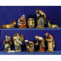 Nacimiento con reyes y pastor 34 cm resina