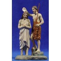 Jesús y San Juan Bautista 12 cm resina