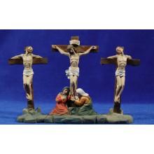Crucificción con ladrones 9 cm resina