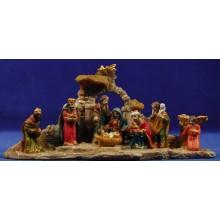 Grupo Nacimiento, reyes y pastor M1 4 cm resina