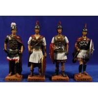 Grupo 4 soldados romanos 16 cm resina