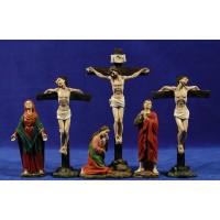 Crucificción con ladrones 13 cm resina