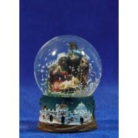 Bola de nieve nacimiento 6 cm resina e cristal