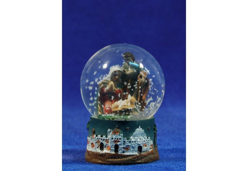 Bola de nieve nacimiento 6 cm resina e cristal - Bola nieve cristal ...