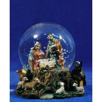 Bola de nieve nacimiento y pastor 10 cm resina y cristal