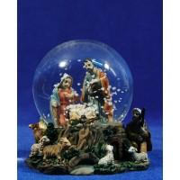 Bola de nieve nacimiento y pastor 10 cm resina e cristal