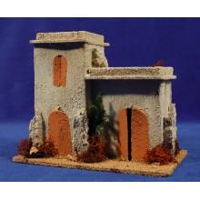 Casa hebrea dos puertas 20x12x18 cm corcho
