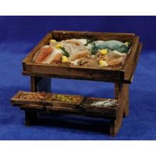 Banco peces 12x10x9 cm madera