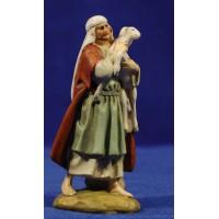 Pastor con cordero en brazos 9 cm resina Linea Martino Landi