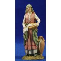 Pastora lavandera 10 cm resina Linea Martino Landi