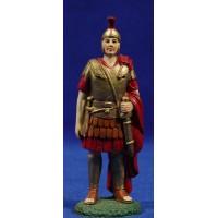 Soldado romano con capa 12 cm resina Linea Martino Landi