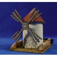 Molino viento 16 cm corcho y cartón