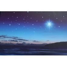 Fondo estrellas mar y cometa 60x40 cm iluminado papel