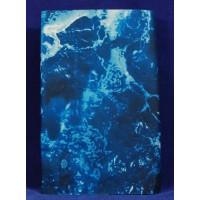 Tipo papel de roca diseño agua 60x30 cm aluminio pintado