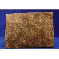 Tipo papel de roca diseño roca marrón 70x50 cm aluminio pintado
