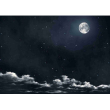 Fondo noche y luna 100x70 cm papel