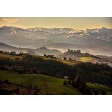 Fondo montañas y prados 100x70 cm