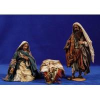 Nacimiento sin buey ni mula 18 cm barro y tela pintada Angela Tripi
