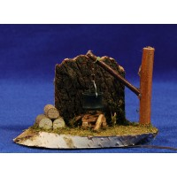 Fogata 7x12 cm madera