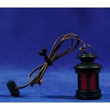 Farola bombilla luz roja de pie 3,5 cm plastico