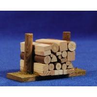Conjunto de troncos 4x8 cm madera