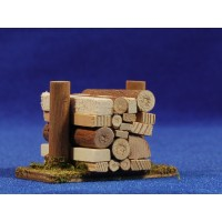 Conjunto de troncos 4x6 cm madera