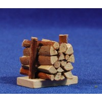 Conjunto de troncos 3,5x3 cm madera
