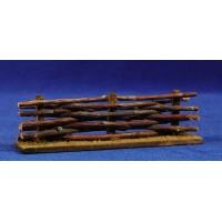 Vallado con troncos 14x6 cm madera
