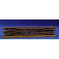 Vallado con troncos 20x6 cm madera