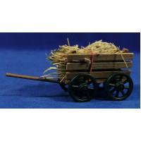 Carro paja 14 cm madera