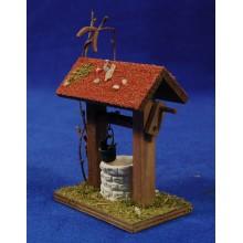 Pozo con tejado 9 cm madera y yeso